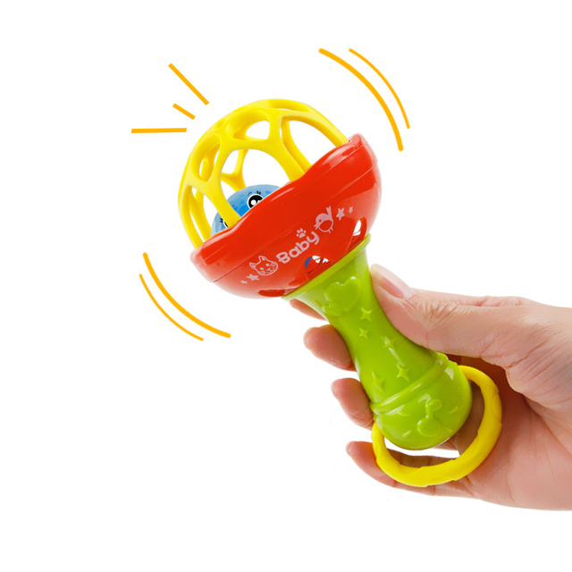 Plastic Hand Baby Rattle Funny Educational