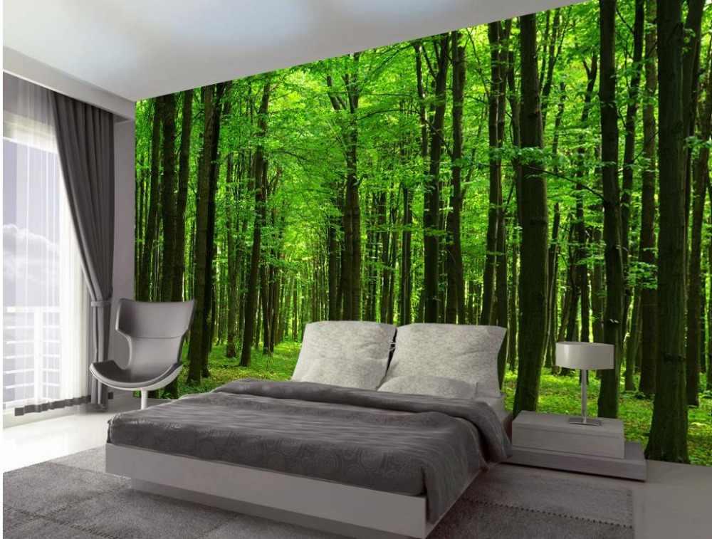 האמבטיה 3d טפט בית קישוט מותאם אישית טפטים לקירות יער נוף קלאסי טפטים לקירות