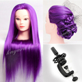 22 Purple Yaki Hair Mannequins Training Head For Hairdresser ,Wig Mannequin Head Manik Dummy Doll Heads Women Manikin + clamp