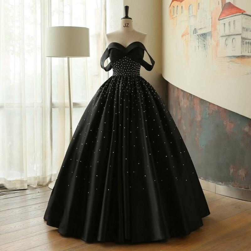 elegant ballgown black gown