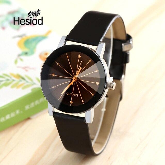 HESIOD znane marki czarny klasyczny kolor para zegarek dla pary kobiety mężczyźni moda zegar Relogio masculino Feminino zegarki
