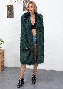 Image 2 - Euro Style Donna Falso Cappotto di Pelliccia di Inverno Nuovo Womans Lungo Faux Cappotti di Pelliccia Caldo Outwear Cappotto di Pelliccia Per La Donna di Strada partito Cappotti di Pelliccia