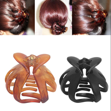Hot Sale 1PC Women Fashion Octopus Hair Claw Curved Heart Shape Resin Solid Color Clips