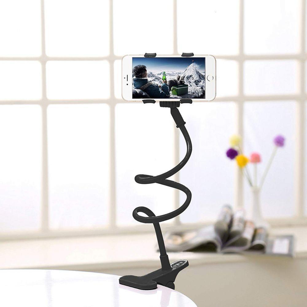 360 Degree Rotating Mobile Phone Holder Telescopic Flexible Clip Table Desk Lazy Spirit Long Arm Universal Mobile Phone Holder