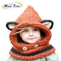 אביזרי הלבשה כובעים לשני המינים ילדים סרוגים החורף בימס Earflap כובעי Skullies מצנפת עבור בני בנות צעיף ברדס