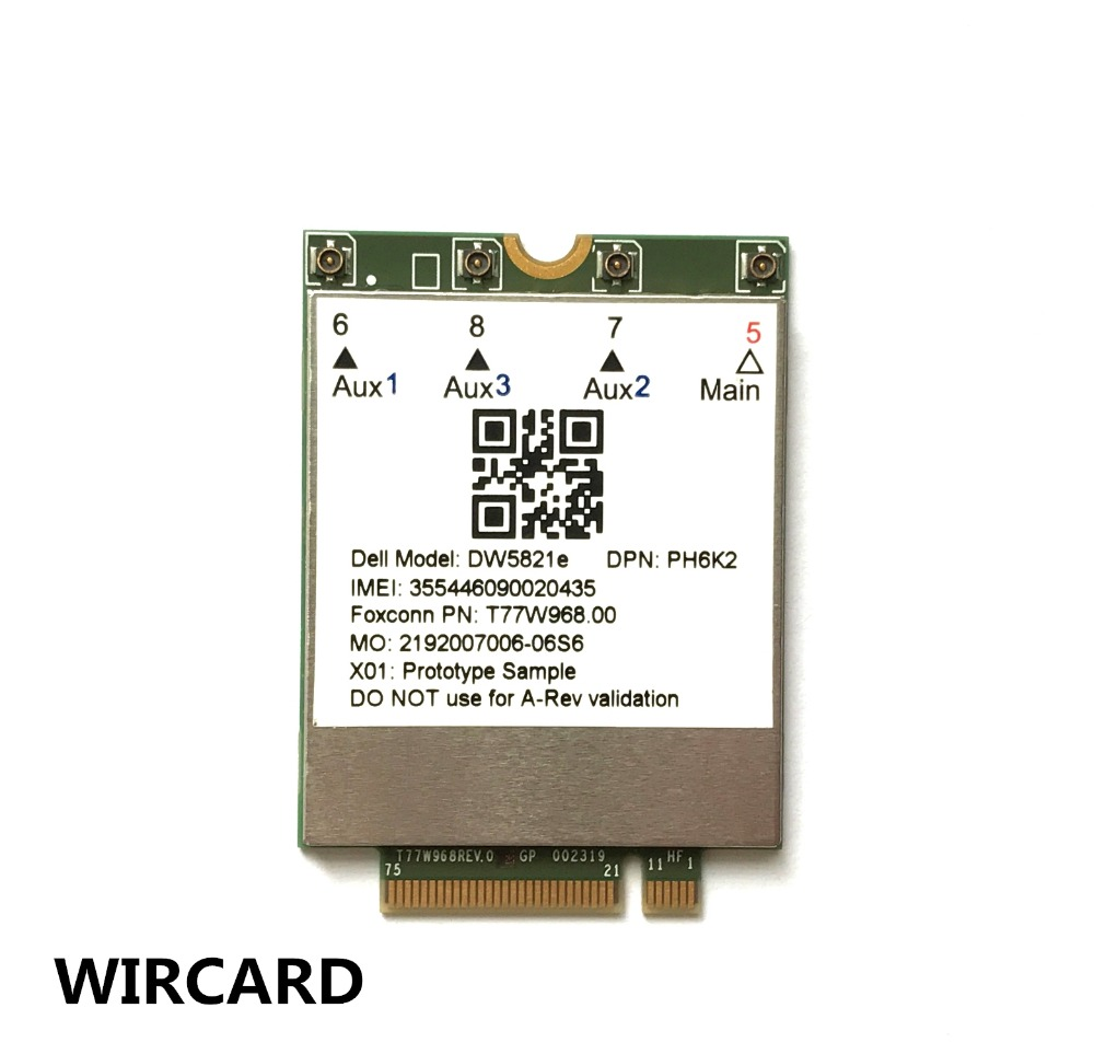 T77W968 DW5821e  X20 LTE Cat16 1Gbps FDD-LTE TDD-LTE 4G Card For Dell  5420 5424 7424 Laptop