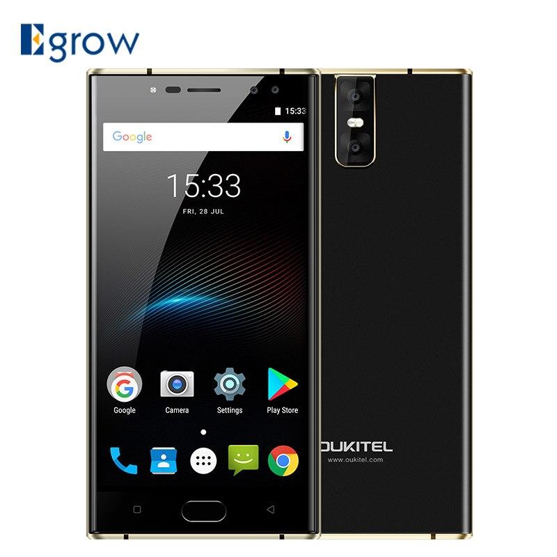 Oukitel K3 16MP + 2MP 4 Caméras Mobile Téléphone MT6750T Octa Core 4 gb + 64 gb téléphones Cellulaires 5.5 pouce 6000 mah Avant D'empreintes Digitales Smartphone