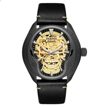 Parnis skeleton mechanical top Luxury brand mens watch 43mm 8