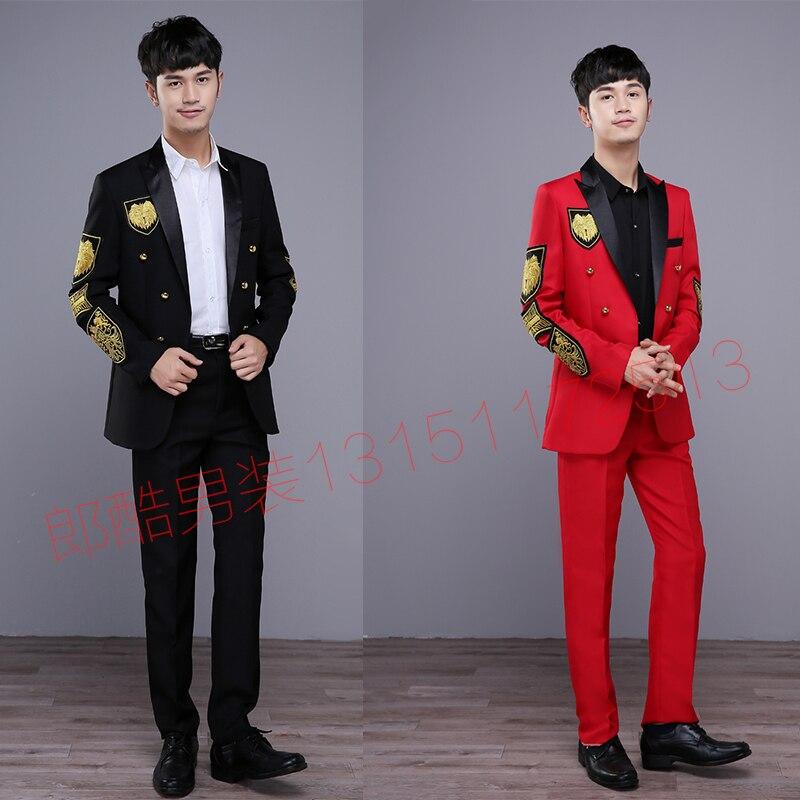 style Jacket Vêtir Western Thème Studio Performance Hommes Robe Red Suit 2018 Chanteur black De Jacket Photo Costumes Mode wZqFnXB