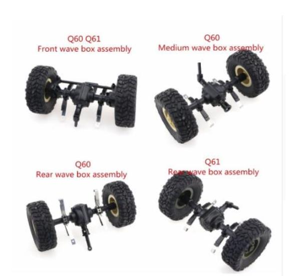 <font><b>JJRC</b></font> Q60 <font><b>Q61</b></font> D826 D827 RC Military Truck 4WD 6WD RC Car spare <font><b>parts</b></font> Front Medium Rear wave box assembly image