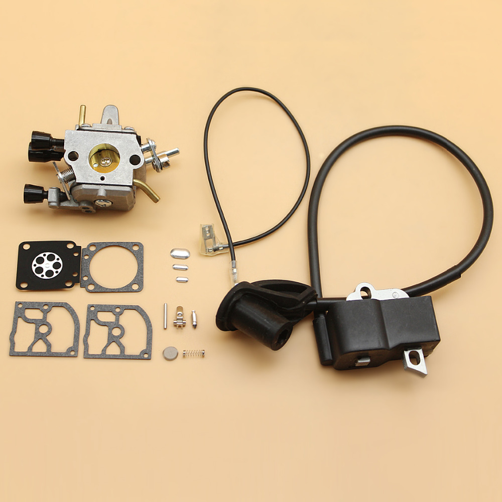 Carburetor Carb Ignition Coil Diaphragm Kit For STIHL FS120 R FS200 TS200 FS250 FS250R FS300 FS350 Trimmer Brushcutter NEW стоимость
