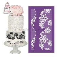 Flower Lace Stencil For Cake Design Fondant Cake Mesh Stencil Lace Mold Fabric Stencils Decorating Baking