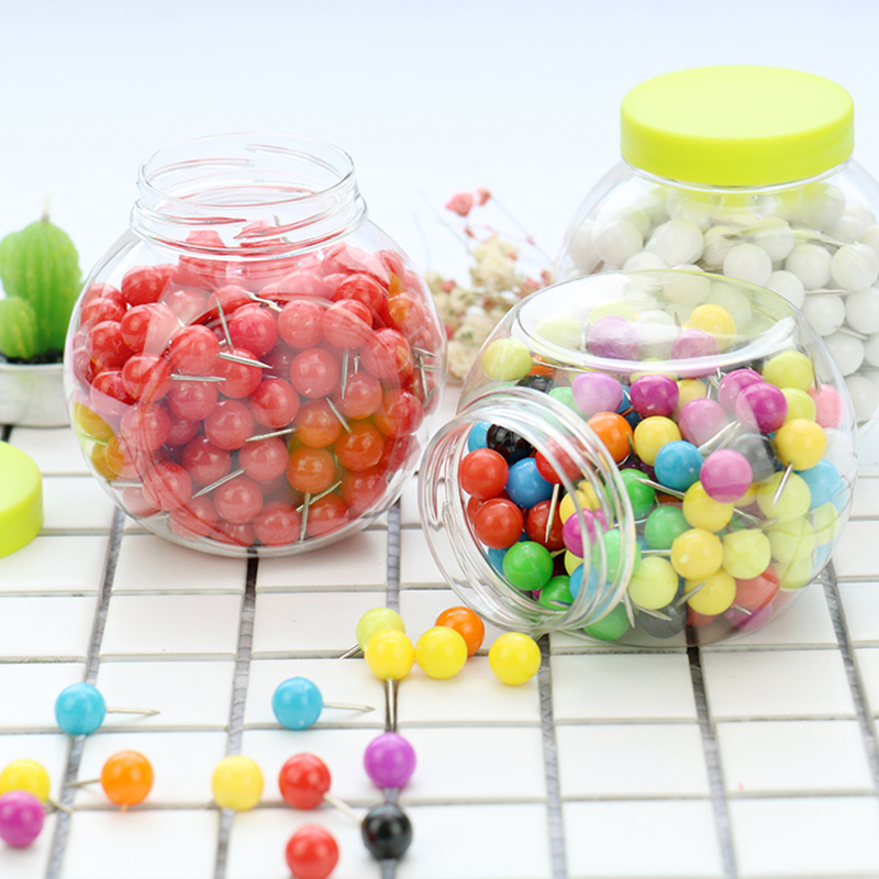 TUTU Candy Colors Pellet Push Pin Thumb Tack Message Board Pushpin 150PCS New Color Creative High-quality Plastic H0002