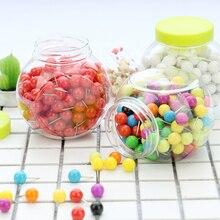 Продажа Пачка конфеты Цвет S Пелле Push Pin thumb tack доска объявлений pushpin 150 шт. Новый Цвет Творческий высококачественный Пластик H0002