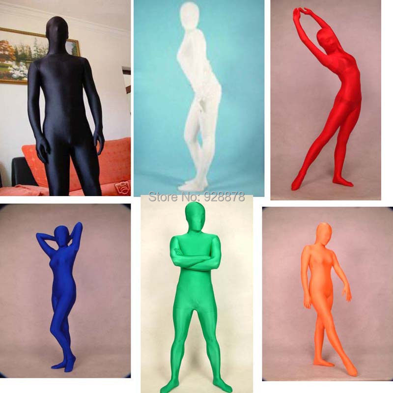 Full Body Lycra Spandex Skin Suit Catsuit Halloween Party Zentai Costumes Unisex / Back Zipper , XS/S/M/L/XL/XXL - Online Store 928878 store