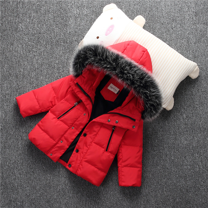 4c031fc35 Kung fu ant 2017 students fur hat hooded outwear white duck down ...