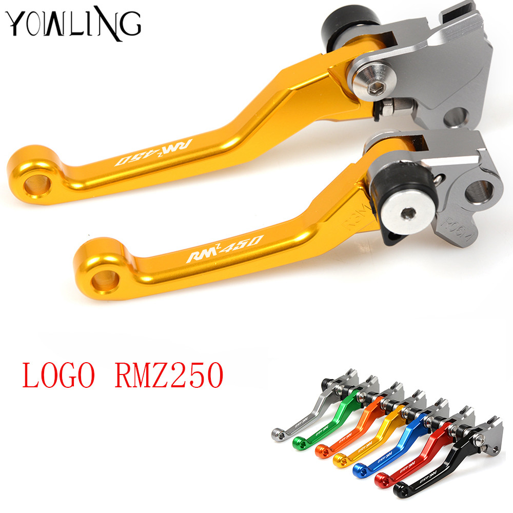 CNC Pivot dirt Bike Brake Clutch Lever Handle For suzuki RMZ 250 2004 2005 2006 2007 2008 2009 2010 2011 2012 2013 2014 2015 16 swing arm pivot frame trim covers for honda vtx1300 2003 2004 2005 2006 2007 2008 2009 chrome