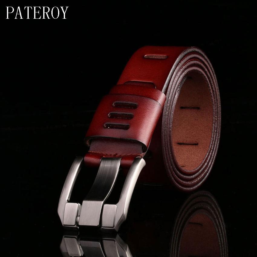 Designerbelter Menn Høykvalitets herrebelte Luksus Ekte skinnbelte Menn Cowboy Pin Spenne Cinturones Cinto Masculino Luxo Riem
