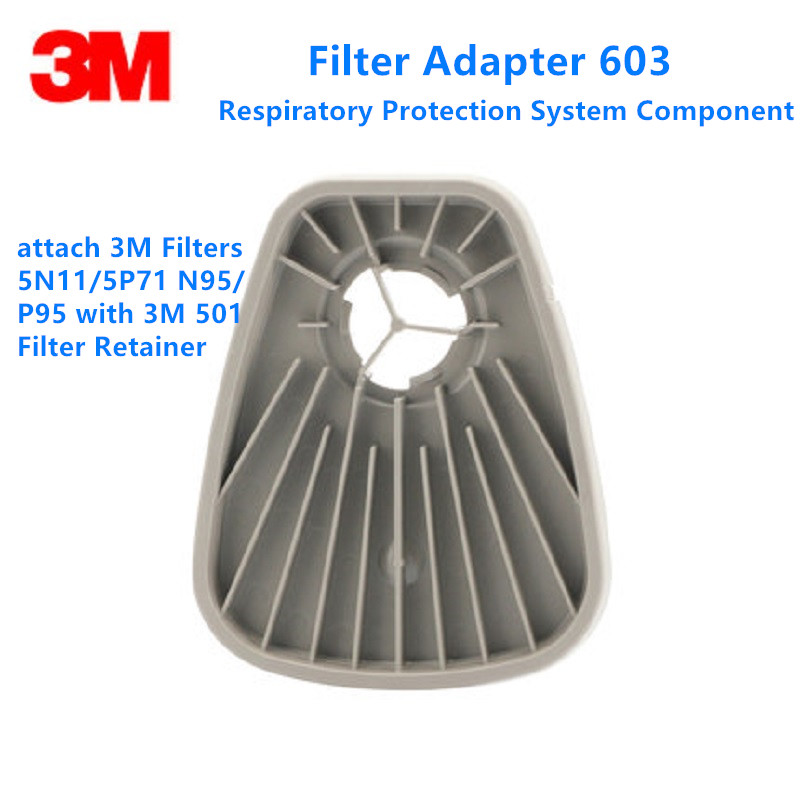1/3/6/10pair 603 Filter Adapter Attach 5N11 5P71 Filters Fit 3M 6000 7000 FF-400 Series Gas Mask Respirators Filter Retainer 501