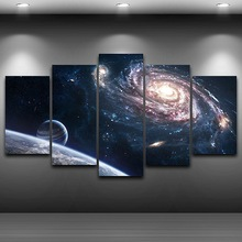 21f6659da الفني قماش طباعة اللوحة HD المطبوعة الرسم الفضاء الخارجي مؤطرة رذاذ اللوحة  ديكورات للحائط المنزل غرفة نوم الفن يصل AE0039