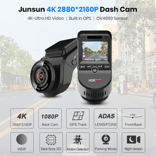 4K Ultra HD GPS Car Dash Cam Sensor Rear Camera with Night Vision and Dual Lens
