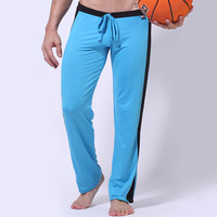 2012 Soft Men Gym Long Pants Tether Sexy Men Sportt Running Pant 6 Color Available 2pcs