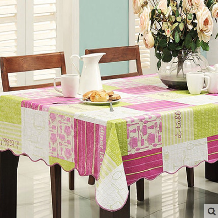 flannel backed vinyl pvc tablecloth plastic waterproof table cloth spread cover rectangular square 106203cm 4 sizes - Vinyl Tablecloths