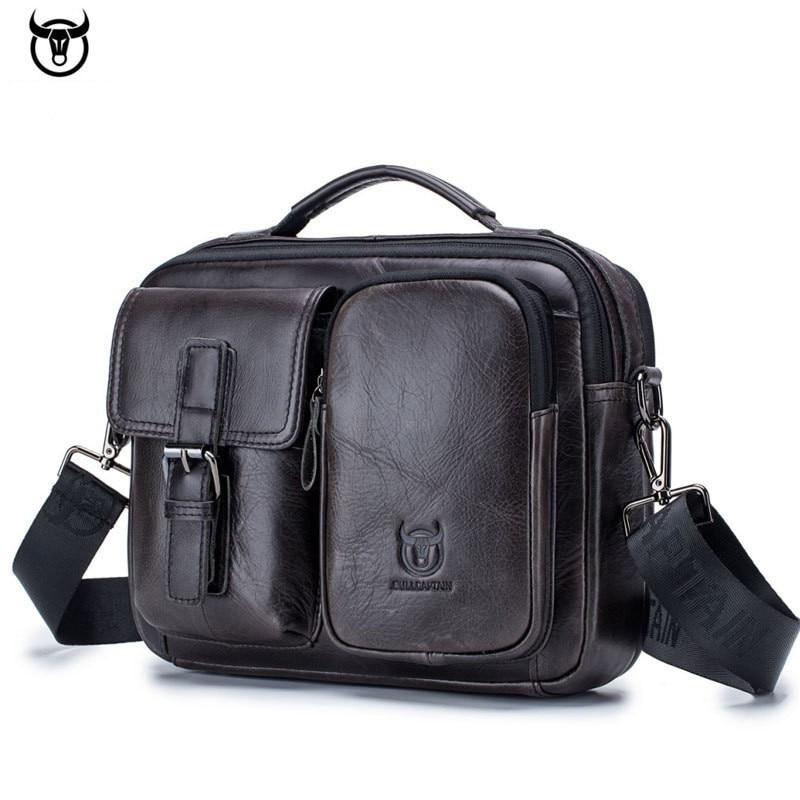 5ad1f545228 BULLCAPTAIN 2019 Men Genuine leather briefcase bag business Computer Laptop Bags  Fashion cowhide male Messenger Shoulder Bags