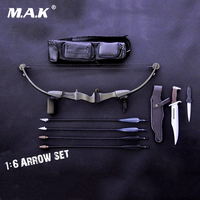 12 Action Figure Doll Weapon Model X TOYS 1:6 Scale Bow Arrow Set+Knife Toys For 12 inches Military Action Figure Soldier Toys