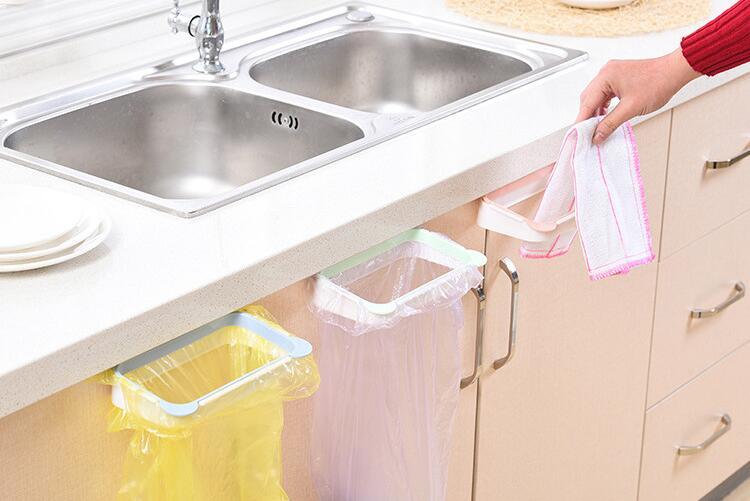Мешок для мусора, Держатель Шкаф задняя дверь мусора стеллаж для хранения Кухня мусора м ...