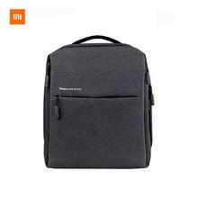 Original xiaomi mi estilo de vida urbano mochila hombros bolsa mochila mochila bolsa de la escuela bolsa de lona se adapta a 14 pulgadas portátil portátil