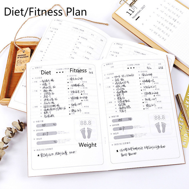 new retro fitness slimming record simple daily diet fitness plan