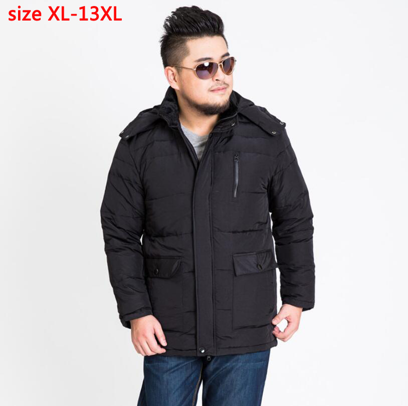 2019 new arrival men with hood bust 185 cm casual obese   down     coat   thickening outerwear plus sizeXL- 8XL9XL10XL11XL12XL13XL 169