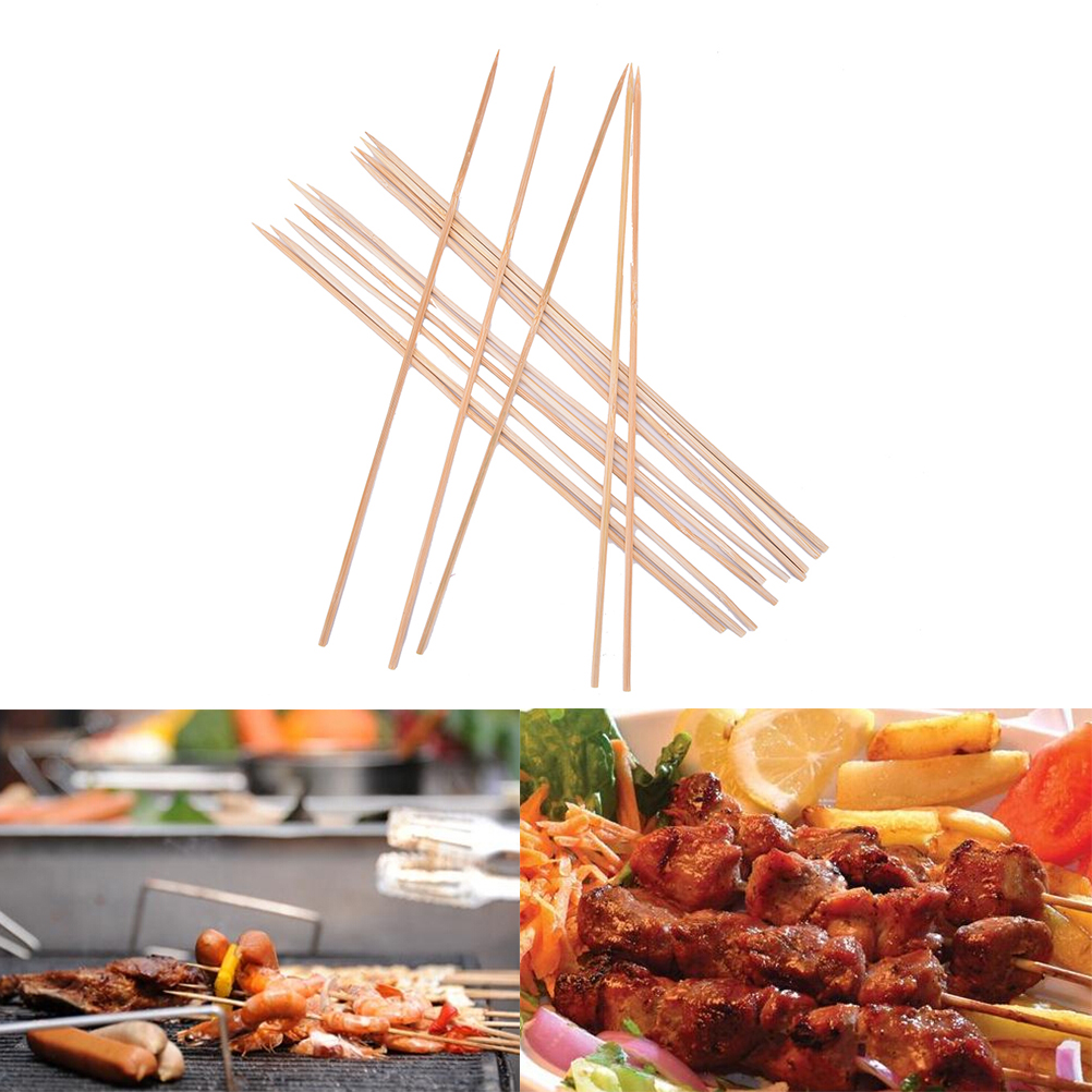 New Hot Selling 1Bag Barbecue Bamboo Stick BBQ Steak Wooden Meat Vegetable Skewer Needle Tool