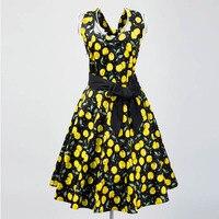 Candow Olhar Senhoras Da Forma do Projeto Original Revival Vintage Cereja Floral Vestidos Halter Sexy Plus Size Clube Vestidos de Noite