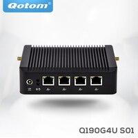 Mini Pc X86 4 Lan Qotom Q190G4 With Celeron J1900 Quad Core 2 Usb VGA Firewall