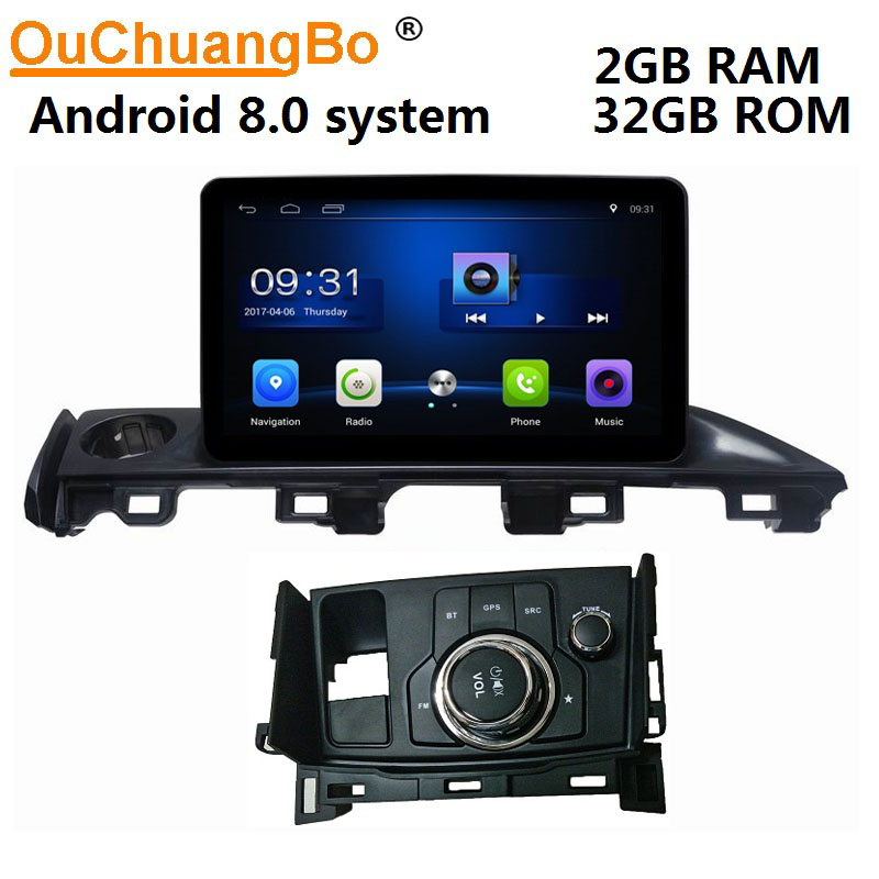 Ouchuangbo car gps navi audio for Mazda 6 2017 support BT aux USB Saudi arabic map android 8.0 OS 2+32