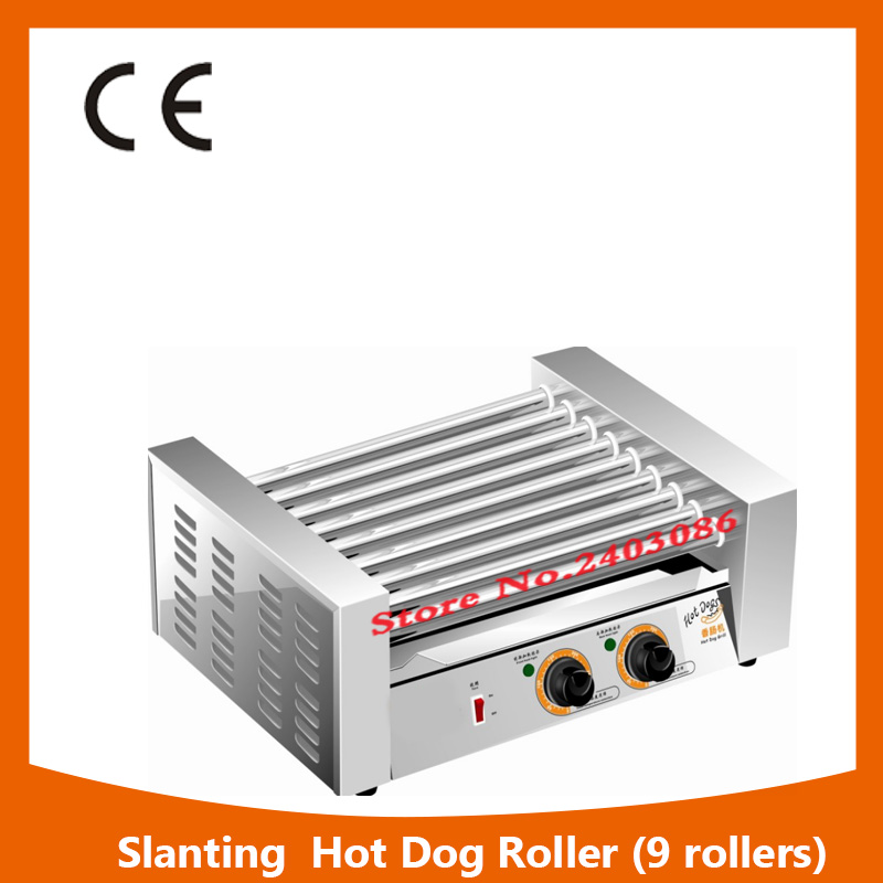 KW-009B independent temperature control 9 roller hot dog grilll automatic sausage maker machine with 304 stainless steel kairos kairos kw 9603 b