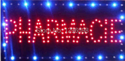 2017 limited sale customed low power 10X19 inch semi-outdoor Ultra Bright running PHARMACIE led advertising display sign