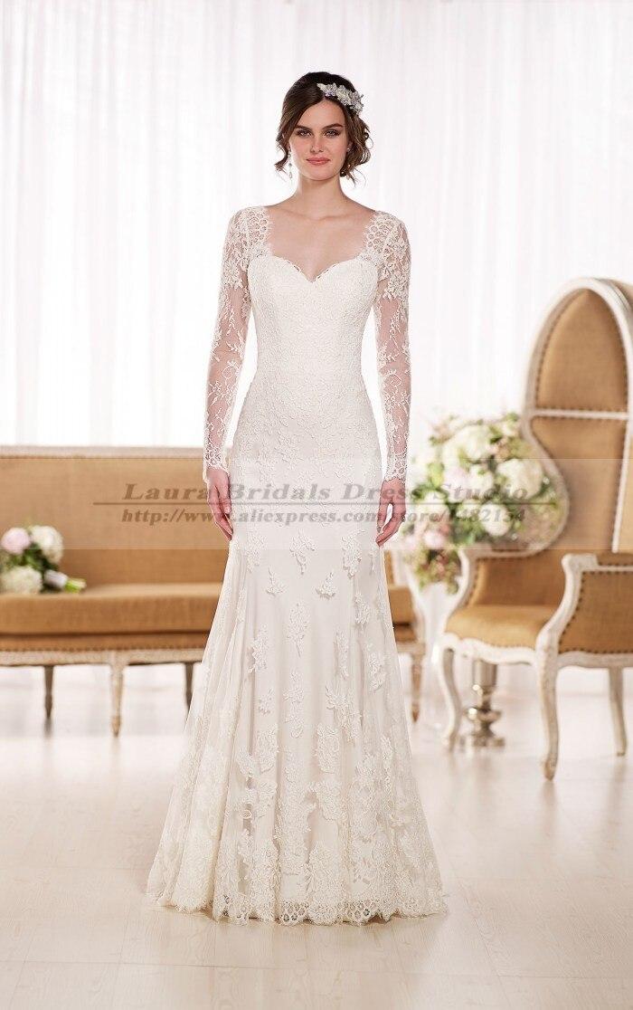 vestidos boda civil manga larga