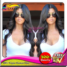 Body wave  high density  lace front wig with baby hair, DHL free shipping human hair lace front wig high density for black women