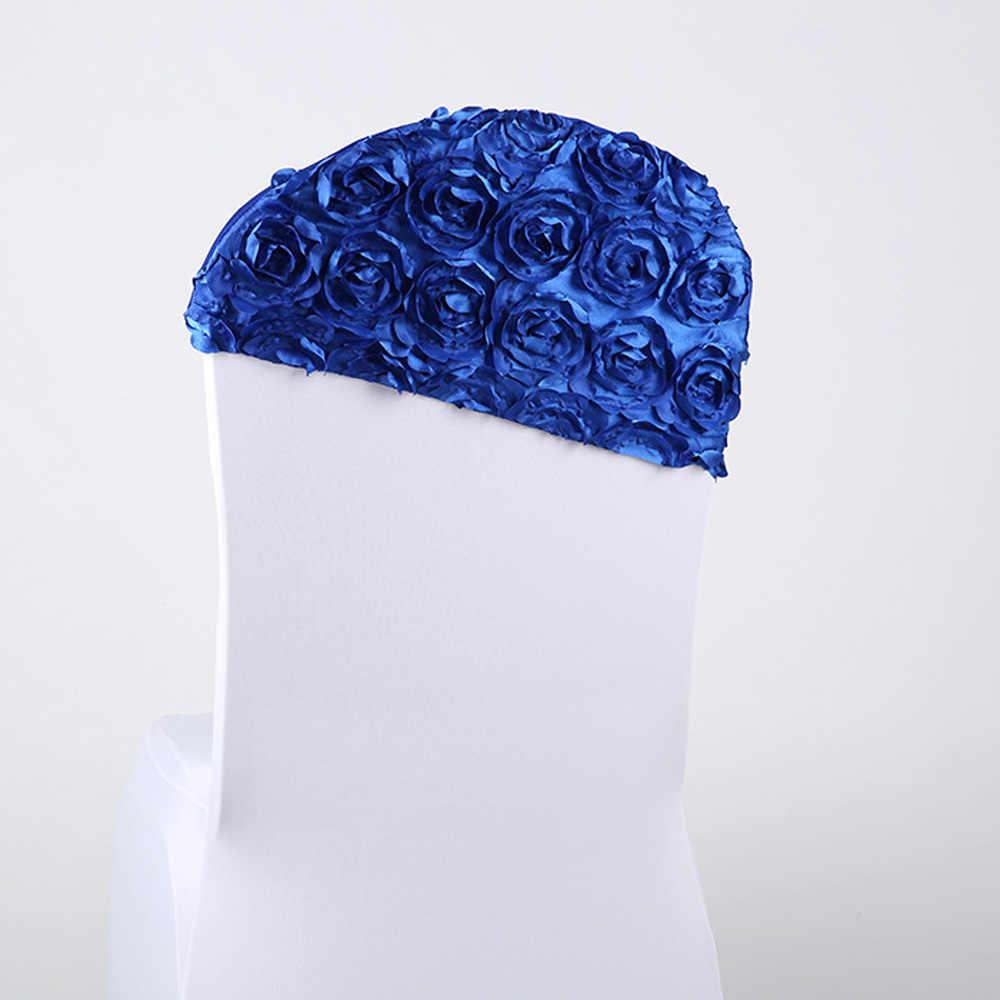 50 adet Kırmızı/Pembe/Mavi Çok Renkli 3D Gül Çiçek Sandalye arka kapak Sandalye Kanat Bantları Otel Ziyafet Için düğün Parti Dekorasyon