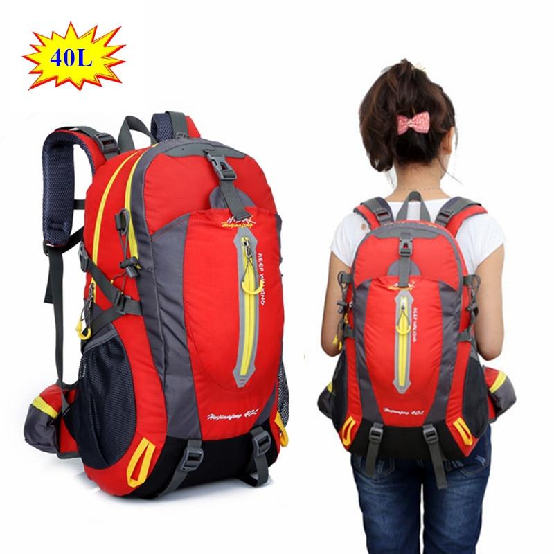 40L Waterproof Travel Hiking Backpack Outdoor Sports Bag Men Women Camping Climbing Bag Mountaineering Trekking Gym Rucksback