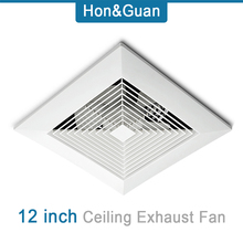 48W Silence Ventilating Exhaust Extractor Fan for Bathroom Toilet Kitchen Ceiling Mounted; 220V Extractor Ventilation Fans 12'' 14w silent ceiling extractor fan bathroom exhaust fan for window wall toilet kitchen ventilating air ventilation device 220 110v