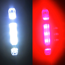 ZK30 NEW 5LED Bicycle Light USB MTB Road Bike Tail Light Rechargeable Cycling Safety Warning Rear Bicycle Light Bike Accessories
