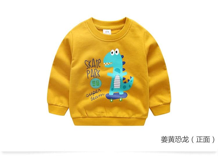 2018 Autumn Winter Warm 2-10 Years Old Children Long Sleeve Cartoon Animal Print School Baby Fleece Handsome Kids Boy Sweatshirt (13)