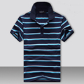 Short Sleeve Polo Shirts Men Summer Fashion Brand Striped Man Polos Shirt Breathable Top Quality Poloshirt Men Slim Fit Tees