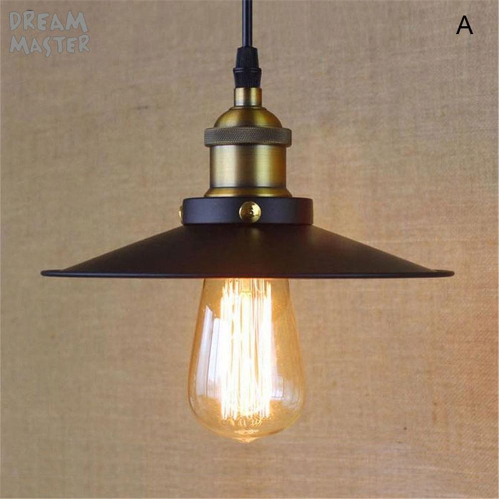 Free shipping E27 base black pendant light 110V or 220V Edison bulb coffee bar lighting vintage lamps pendant lamp iluminacion