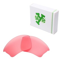 Mryok Replacement Lenses for Oakley Half Jacket XLJ Sunglasses HD Pink