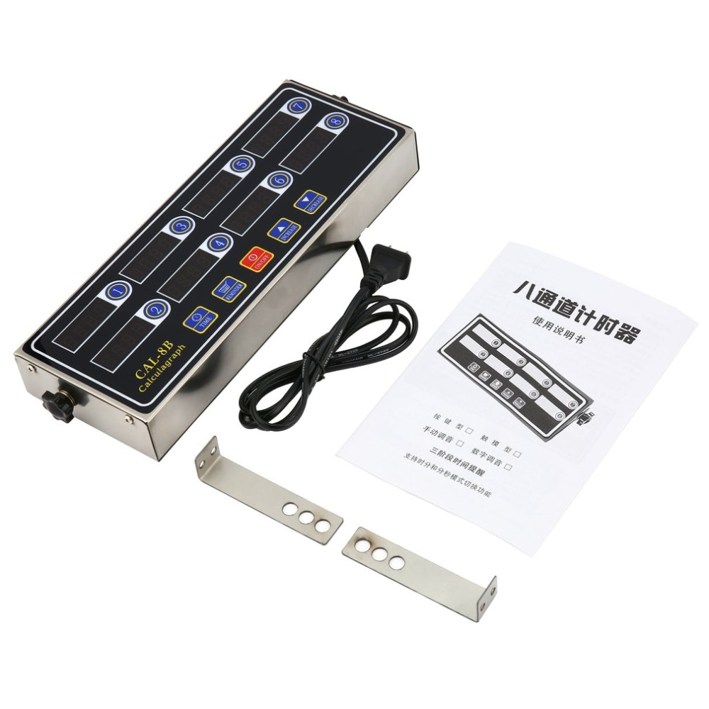 CAL-8B Portable Calculagraph 8 canaux minuterie numérique cuisine cuisson chronométrage LCD affichage horloge secouant rappel livraison directe